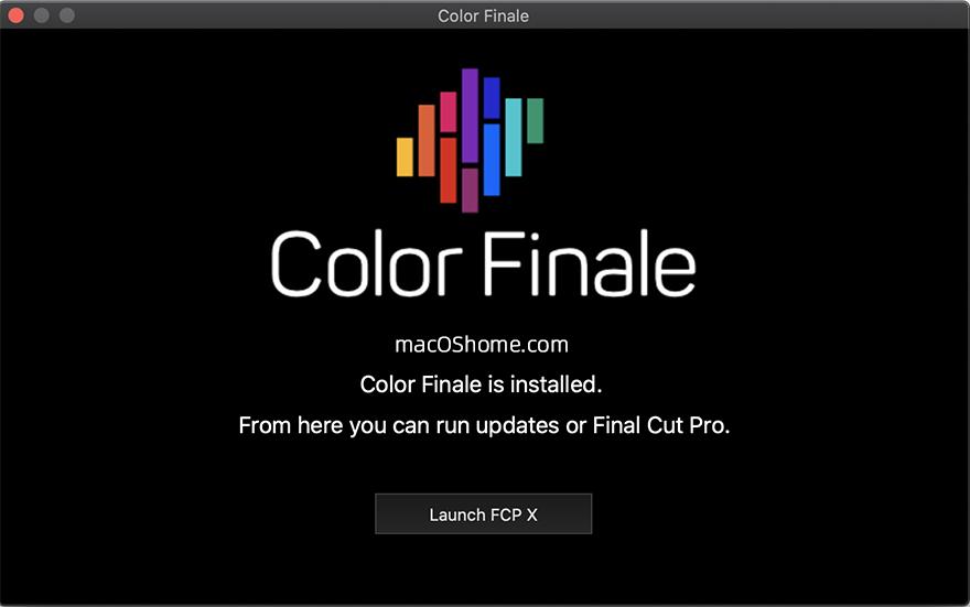 Color Finale Pro 2.1.144  专业级FCPX调色插件