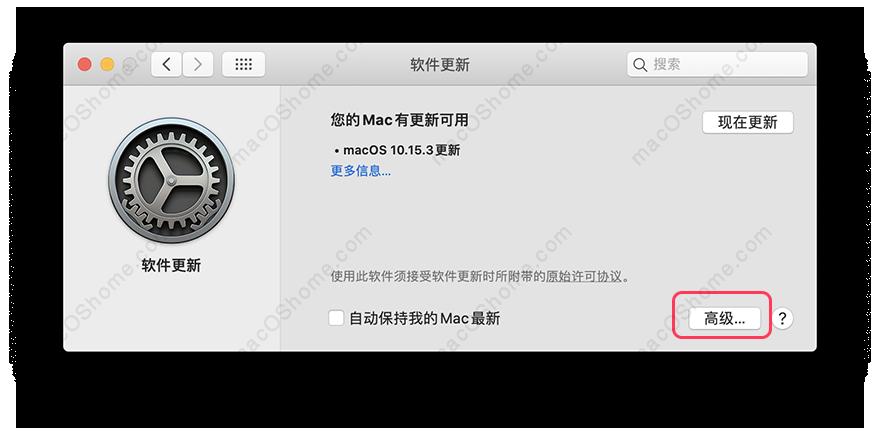 macOS关闭系统自动更新,10.14/10.15/11.x适用本教程