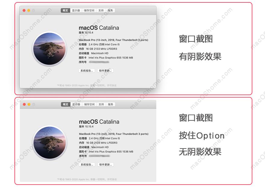 去除macOS 窗口截图阴影效果