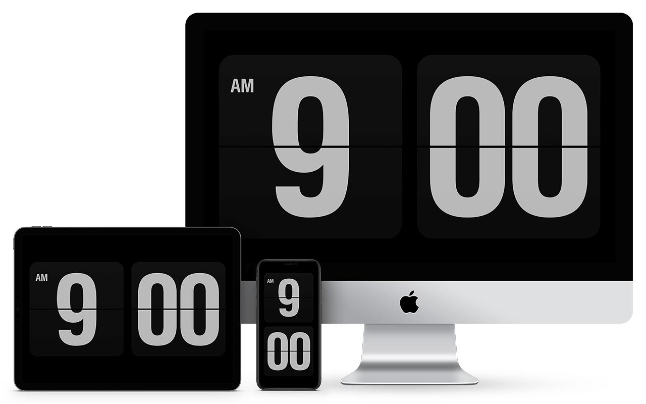 Fliqlo for Mac v1.8.3 简约翻页时钟屏保破解版(推荐必备)