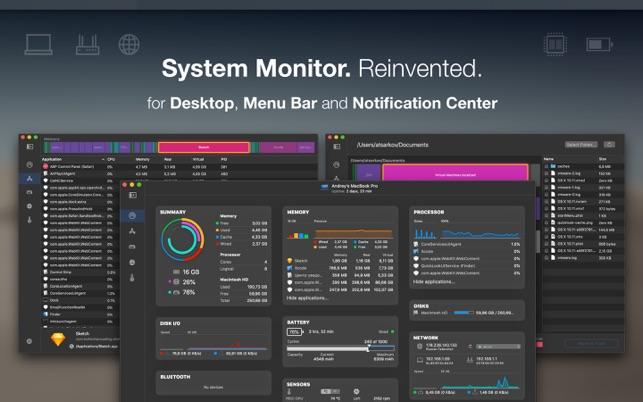 iStatistica Pro For Mac  2.1.1状态栏系统信息监控软件