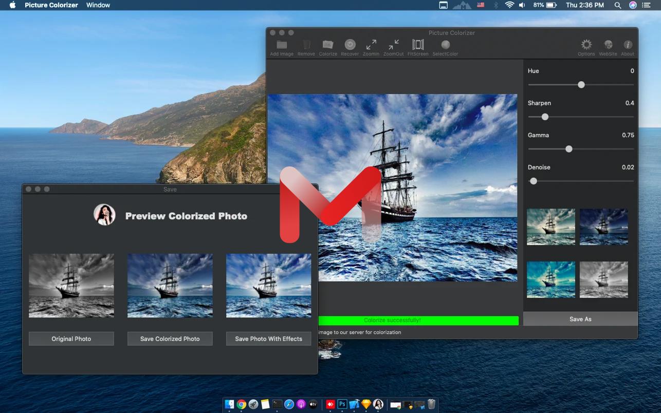 Picture Colorizer for Mac v2.0.3 黑白照片着色器给黑白照片上色破解
