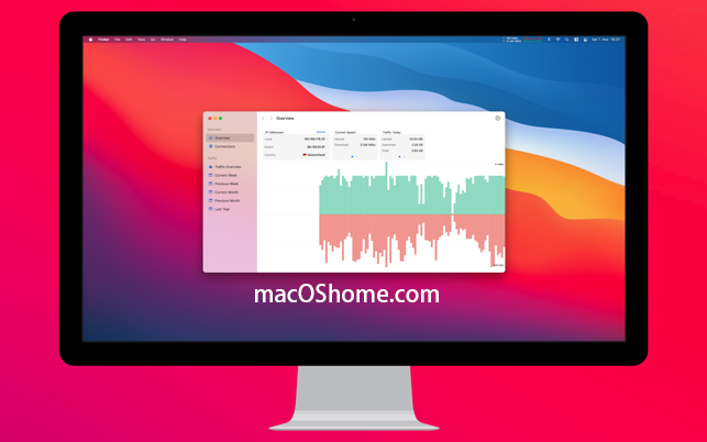NetWorker Pro for Mac v7.2.4 显示网络网速信息中文破解版
