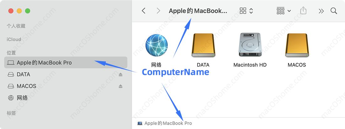 macOS系统修改电脑名称/终端主机名称/本地主机名称