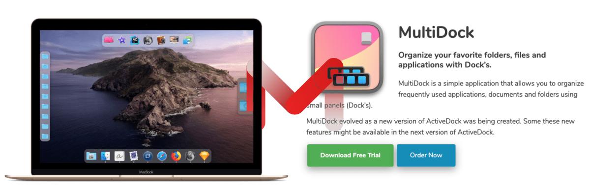 MultiDock For Mac1.44 组织你喜欢的文件夹放桌面