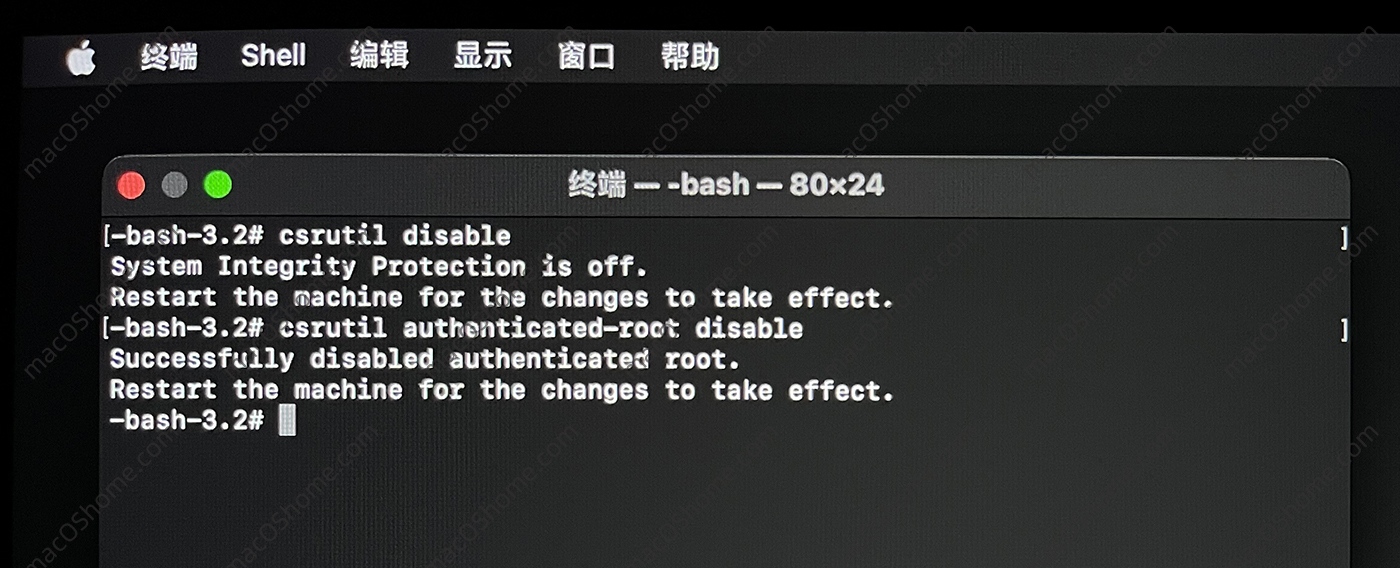 macOS Big sur 关闭SIP系统完整性保护