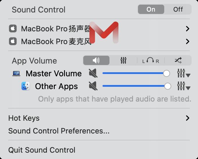 Sound Control for Mac v2.6.0 音量控制软件