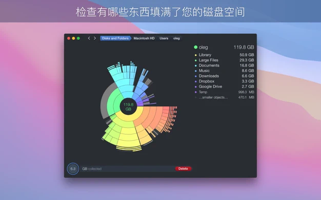 DaisyDisk For Mac v4.21查看恢复磁盘空间中文版