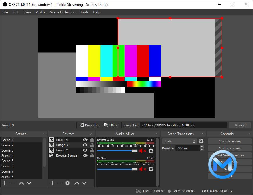 OBS Studio For Mac V27.0.1 免费开源的视频录制以及实时直播软件。