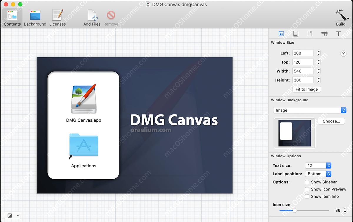 DMG Canvas 3.0.15  制作DMG打包文件